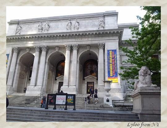 New York Public Library derrière Bryant Park